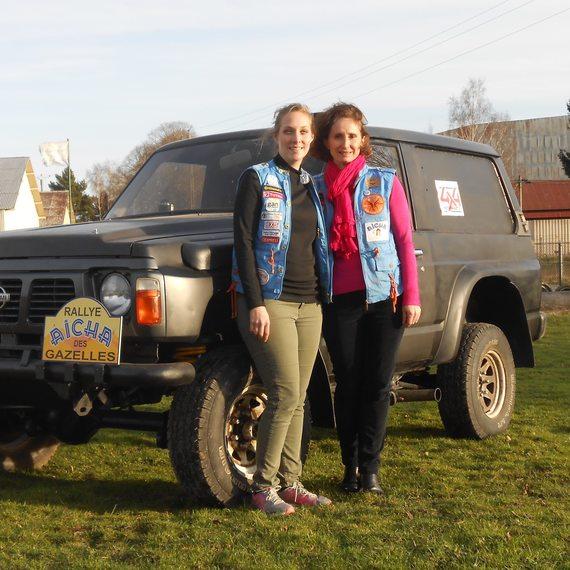 Fabienne et Mathilde au Rallye des Gazelles 2016