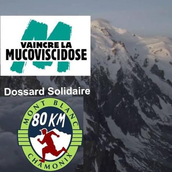 Dossard solidaire - 80KM du Mont Blanc - Courir pour vaincre la Mucoviscidose
