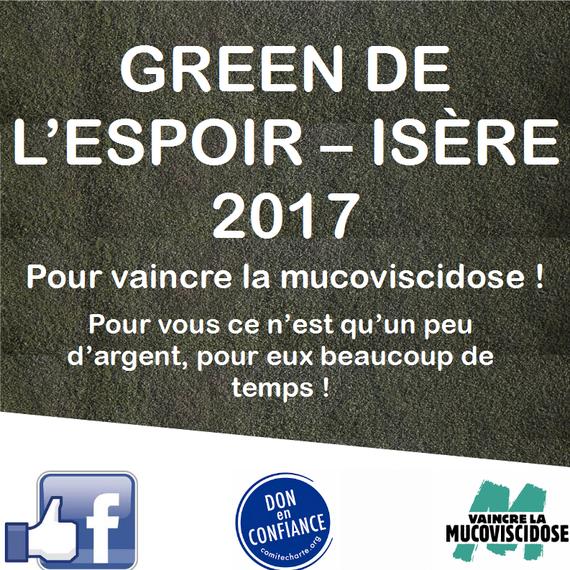 Green de l'espoir Isère 2017