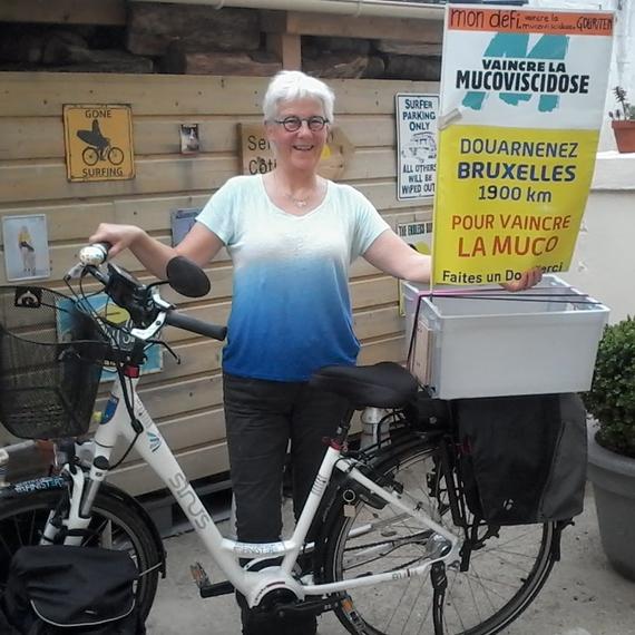 Douarnenez-Bruxelles en vélo en solo pour vaincre la muco