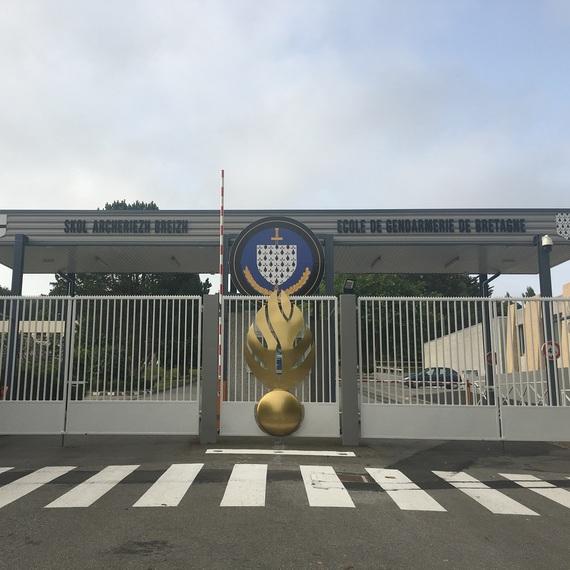 La 2e compagnie de l'école de Gendarmerie de Châteaulin lutte contre la mucoviscidose