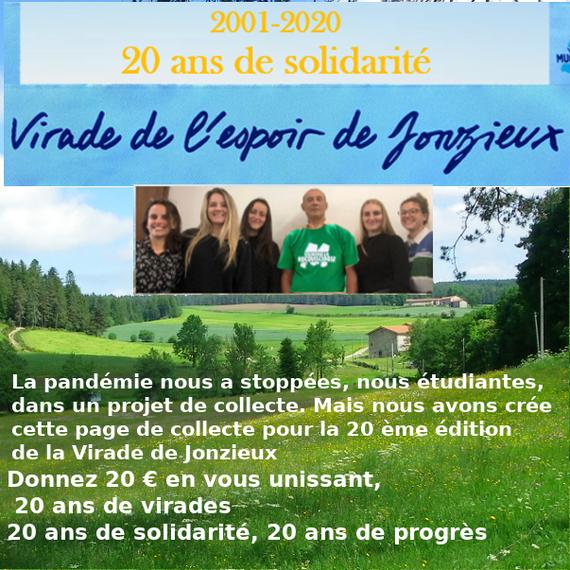 20 ans de la Virade de Jonzieux un max de dons de 20 € !