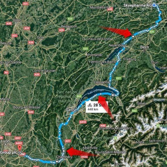 Swiss - French Border Cycling Challenge
