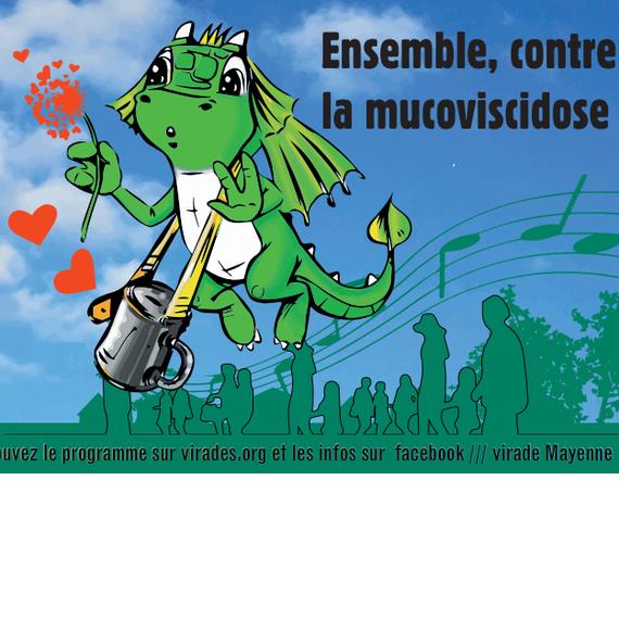 Flashmob de la virade de l'Espoir de Mayenne