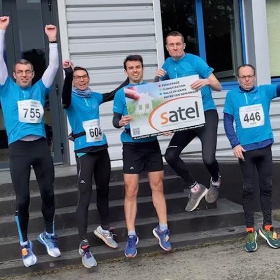 Satel court contre la Mucoviscidose - Marathon de Paris