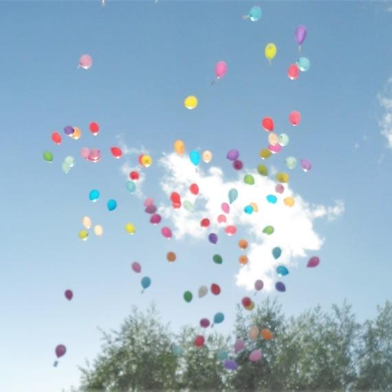 Virade de l'espoir de Reuilly - Lâcher de ballons